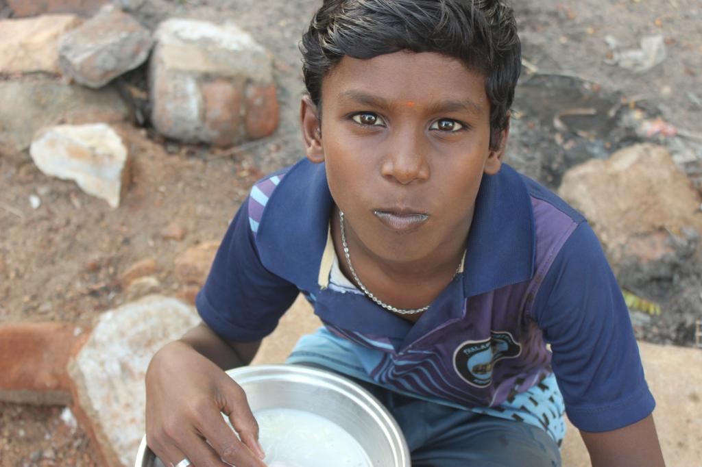 Donación para dieta equilibrada en India