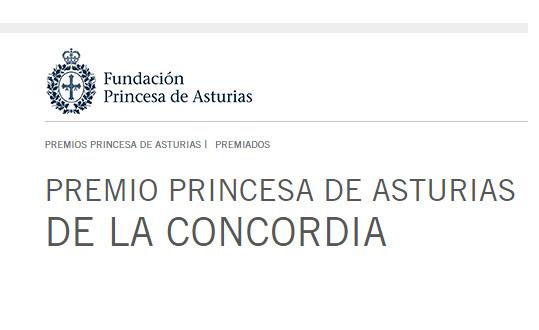 Premio princesa de Asturias de la Concordia 2017