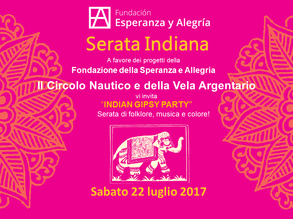 Cena Benéfica India en Italia 2017