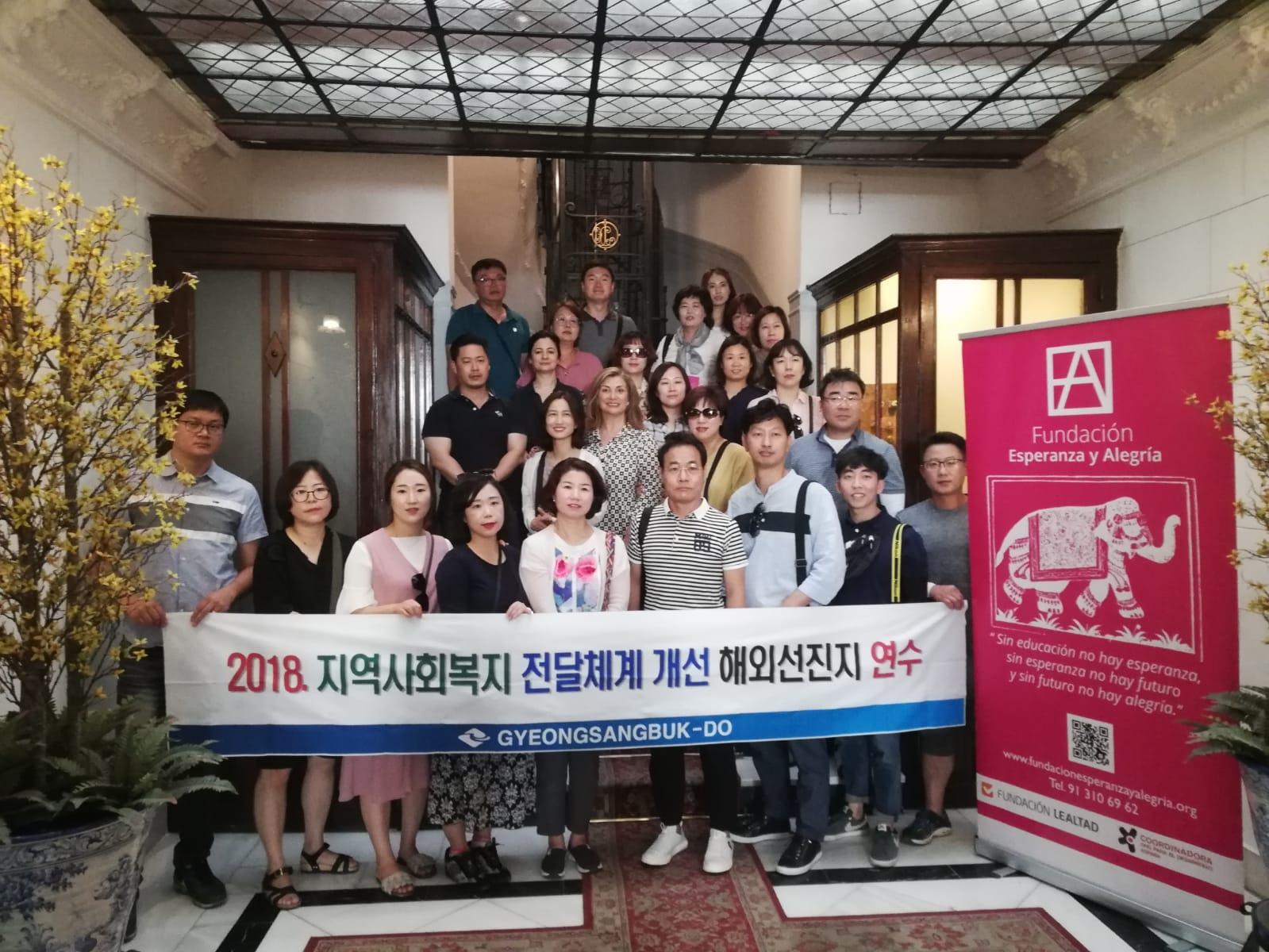 La Fundación recibe la visita de 25 funcionarios del área de Trabajo Social de Corea del Sur