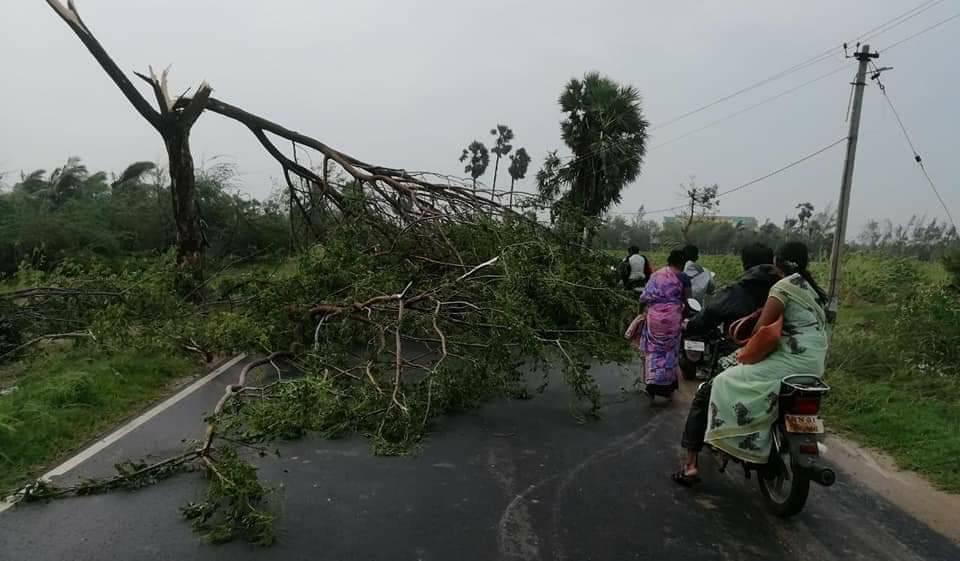 El ciclón Gaja arrasa con los hogares St. Joseph y Mother Theresa en Tamil Nadu