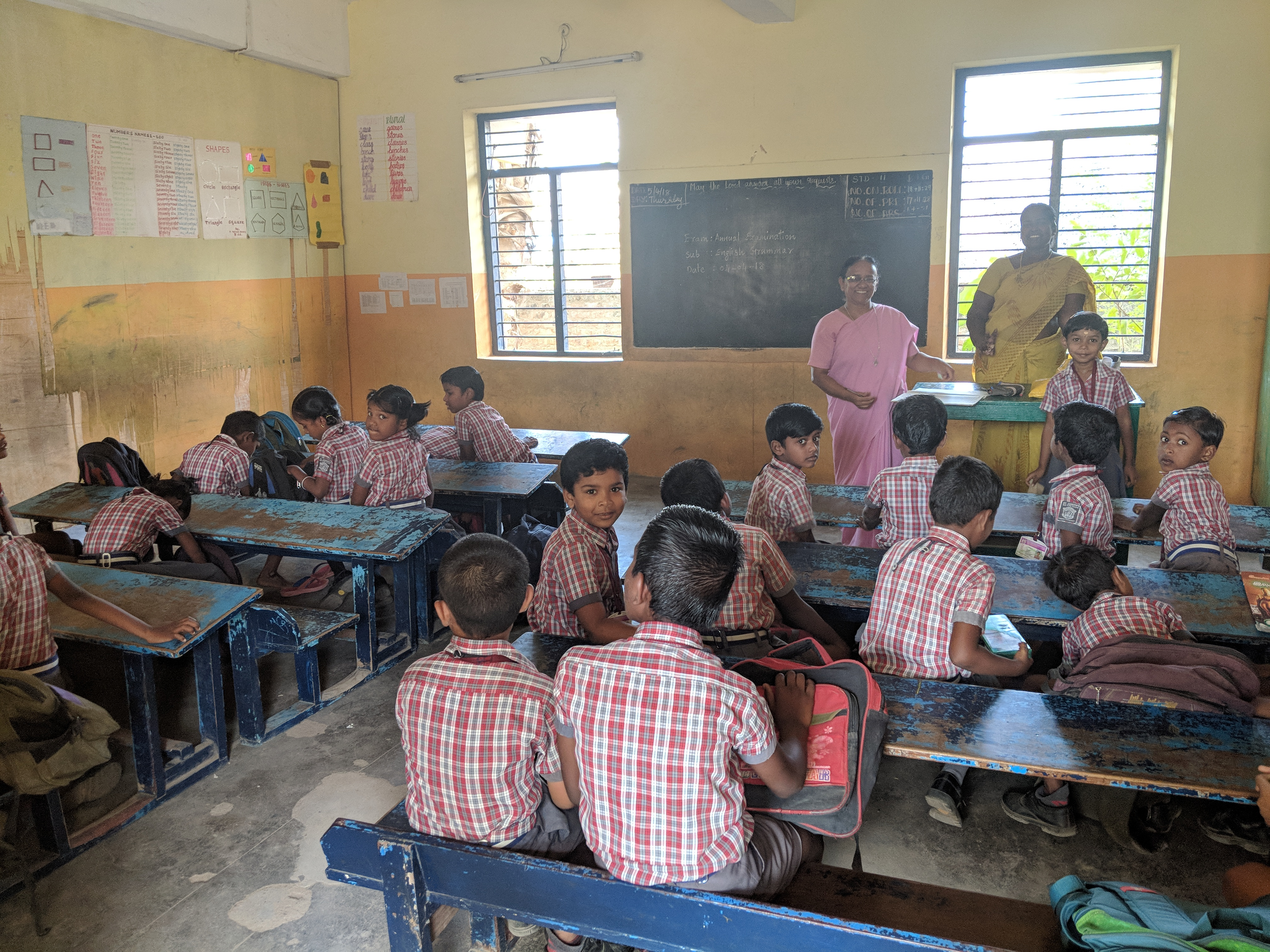 Educational improvement for more than 200 students in Gandhipet (India)