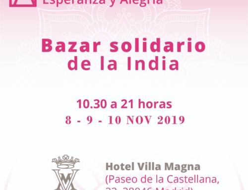 Bazar solidario de la India en Madrid